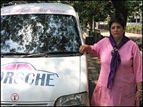 A woman cab driver in Mumbai