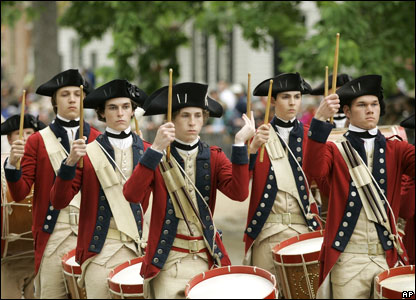 Members of the Colonial Williamsburg Fifes and Drums