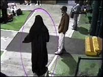 Yassin Omar in a burka, Birmingham