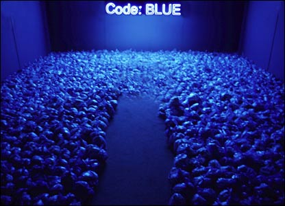 Kimberley Lund's Code Blue installation on pollution