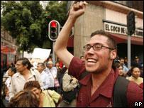Manifestantes pro aborto festejan la despenalización en México D.F.