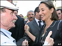 Segolene Royal meeting voters in Brittany