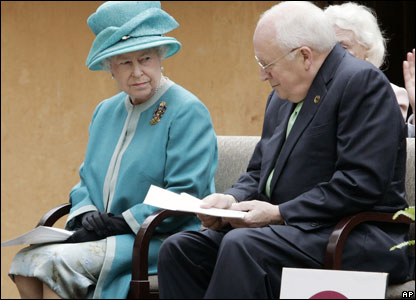 The Queen and US Vice-President Dick Cheney