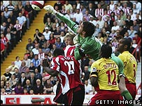 Action from Sheffield United's recent game with Watford