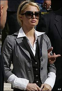 Paris Hilton leaves the Metropolitan Courthouse after her probation violation hearing