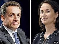 Nicolas Sarkozy and Segolene Royal