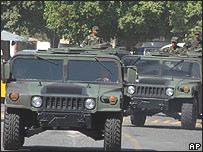 Militares mexicanos en Acapulco