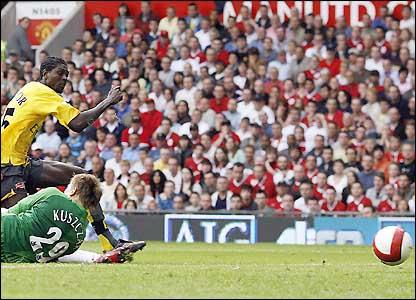 Emmanuel Adebayor scores
