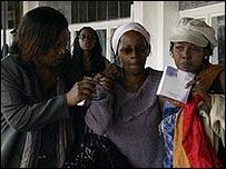 Worried relatives arrive at Kenya's Jomo Kenyatta International Airport