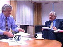 Labour's Rhodri Morgan and Liberal Democrat Mike German