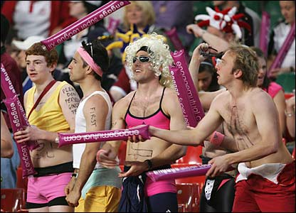 Supporters at the Millennium Stadium