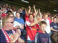 Fans at Racecourse, Wrexham