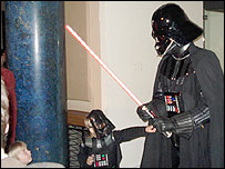 Darth Vader with fans