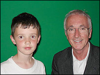 Felix, 7, with C-3P0 actor Anthony Daniels