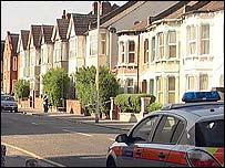 The scene in Melfort Road, Croydon