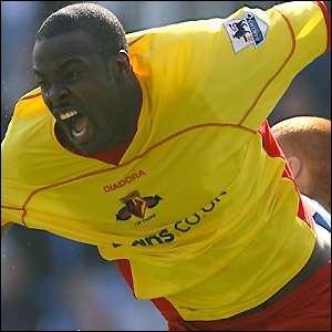 Danny Shittu scores Watford's first