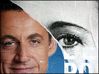 Posters of Nicolas Sarkozy and Segolene Royal