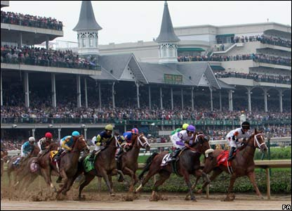 The runners at the Derby