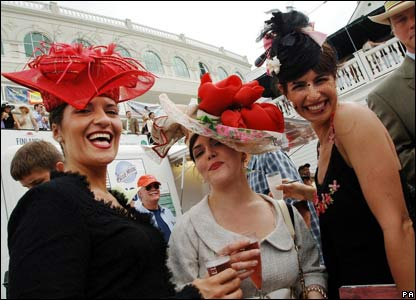 Race goers at the Kentucky Derby