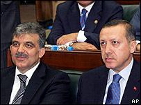Abdullah Gul and Recep Tayyip Erdogan