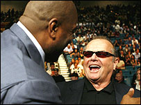 Magic Johnson and Jack Nicholson