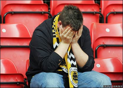 Despairing Boston United fan