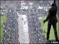 George Best's funeral at Stormont