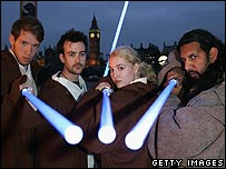 Star Wars fans at film exhibition in London