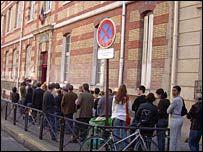 Polling-station in Montmartre, Paris