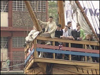 Team on board The Matthew
