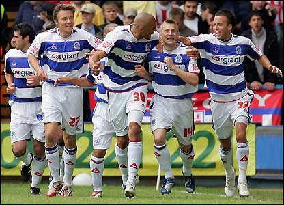 QPR celebrate their early goal