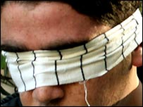 Palestinian taken into custody by Israeli soldiers