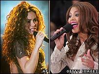 Shakira (left) and Beyonce