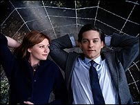 Kirsten Dunst (left) and Tobey Maguire in Spider-Man 3