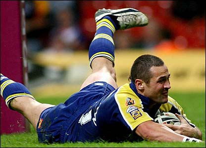 Vinnie Anderson scores for Warrington