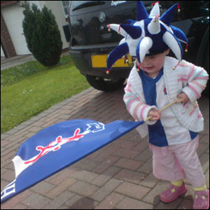 A young Hartlepool fan