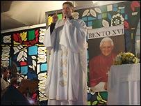 Padre Marcelo. Pic: K Moura Da Silva