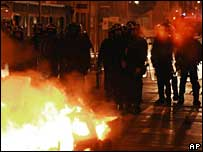 Riot police in Toulouse