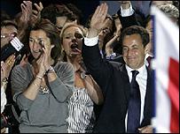 ساركوزي وزوجته سيسيليا