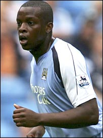 Nedum Onuoha in action for Manchester City