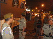 Civilian police in the district of Tangerang 