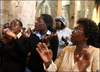 Praying in Nairobi