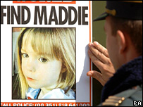 Poster appeal for Madeleine McCann