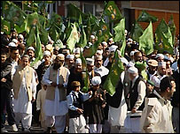 A parade to celebrate the birth of the the Prophet Muhammad