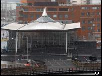 The Senedd building in Cardiff Bay