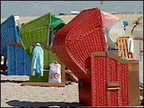 Chairs on a beach in Mecklenburg, Germany