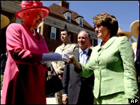 Queen Elizabeth II greets U.S. House Speaker Nancy Pelosi,