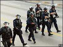 Los Angeles police advance on May Day