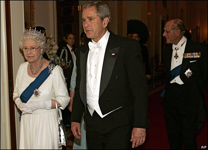 President Bush, the Queen and Prince Philip