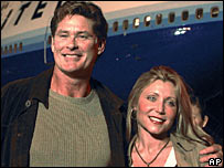 David Hasselhoff and his wife Pamela in 2004